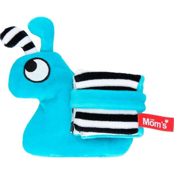 Hencz Toys Edukační/textilní knížečka - hlemýžď, tyrkysová