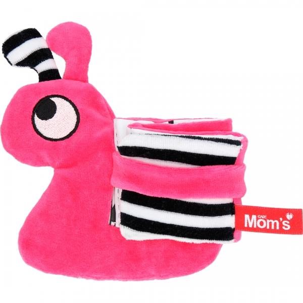 Hencz Toys Edukační/textilní knížečka - hlemýžď, růžová