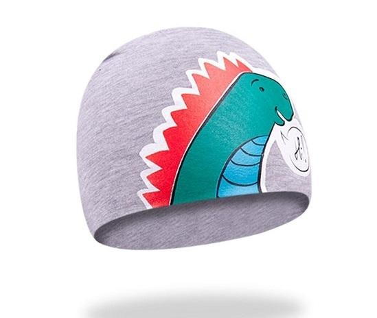 Bavlněná čepička YO ! Hi Dino - šedá, Velikost: 48/50 čepičky obvod