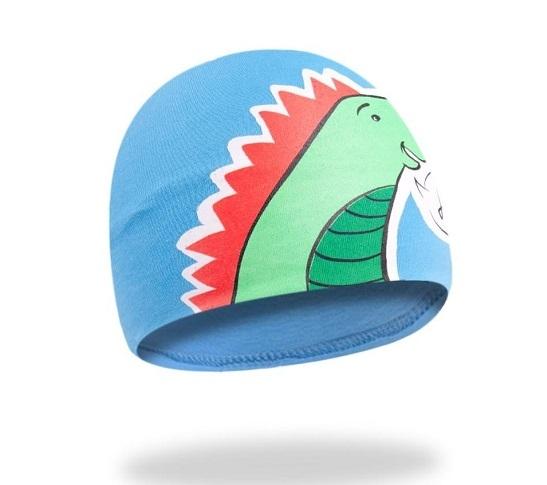 Bavlněná čepička YO ! Hi Dino - modrá, Velikost: 48/50 čepičky obvod