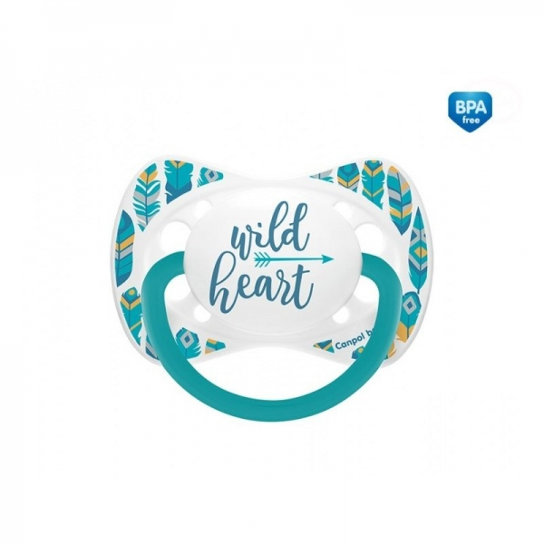 Dudlík symetrický Wild Heart 0-6 A - tyrkysový