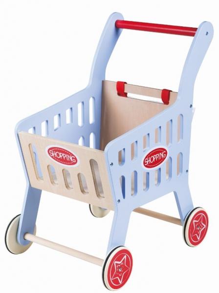 Dřevěný nákupní vozík
