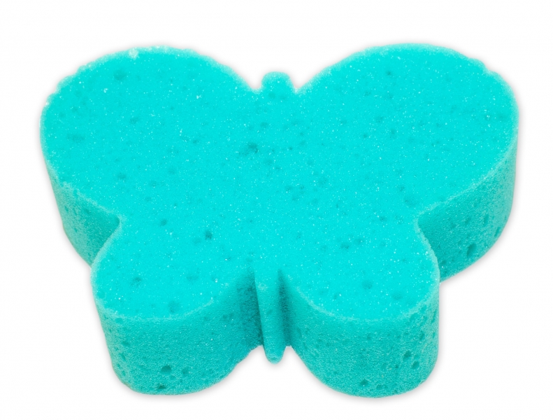 Cleanex Dětská koupelová houba - zvířátko, zelená-tyrkysová