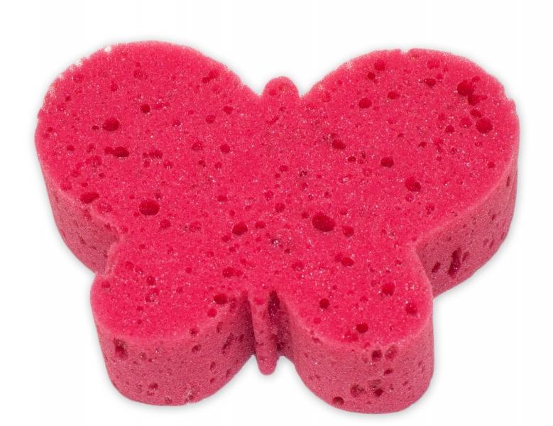 Cleanex Dětská koupelová houba - zvířátko, červená