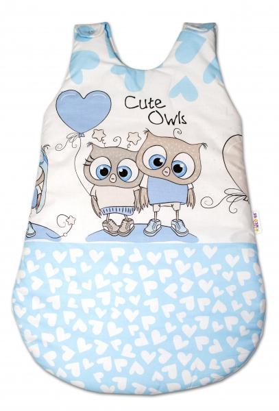 Baby Nellys Spací vak Cute Owls - modrý