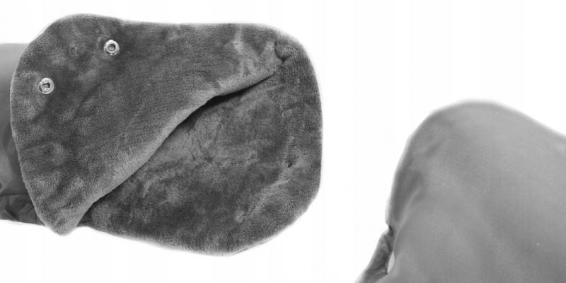 ICE BABY Rukávník ke kočárku fleece - šedý