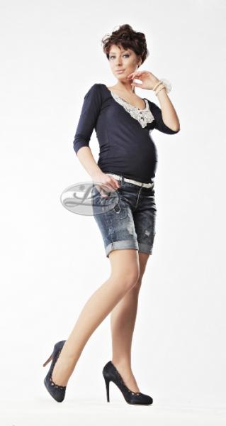 Těhotenské silonky - pod bříško - světle béžové