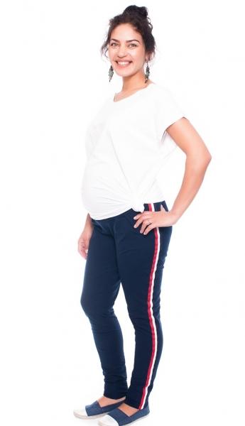Be MaaMaa Těhotenské tepláky/kalhoty Tommy, granátové, vel. XL