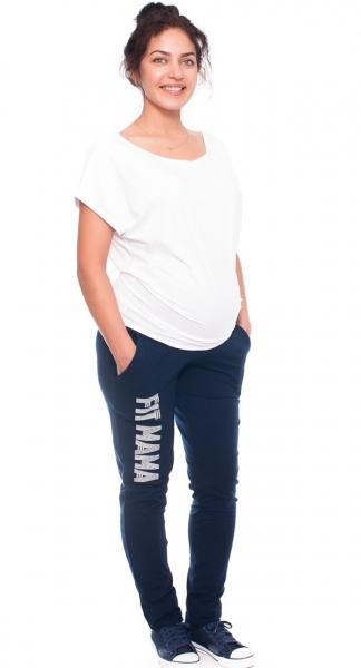 Be MaaMaa Těhotenské tepláky/kalhoty Fit Mama, granátové, vel. XL