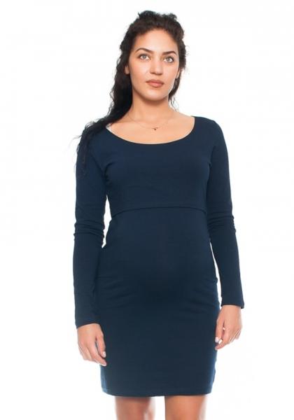 Be MaaMaa Elegantní těhotenské a kojící šaty Aszka - granát, vel. M
