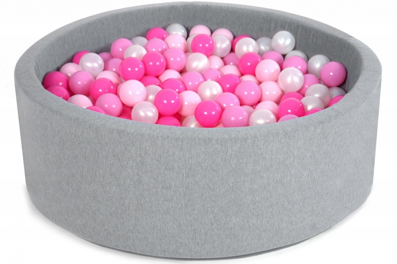 Bazén velký pro děti 90x40cm + 200 balónků - sugar pink