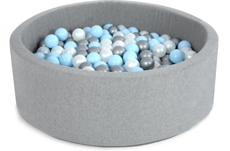 Bazén velký pro děti 90x40cm + 200 balónků - sweet blue