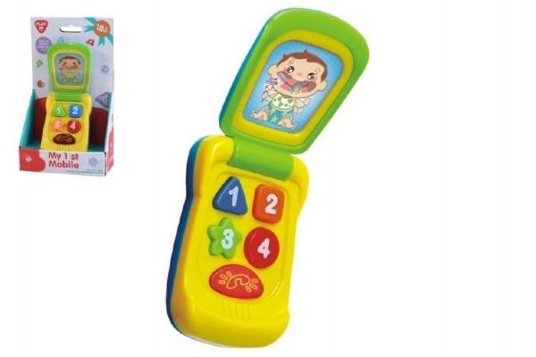 Telefon Mobil plast 14cm na baterie se zvukem se světlem na kartě 11x20x5,5cm 18m+