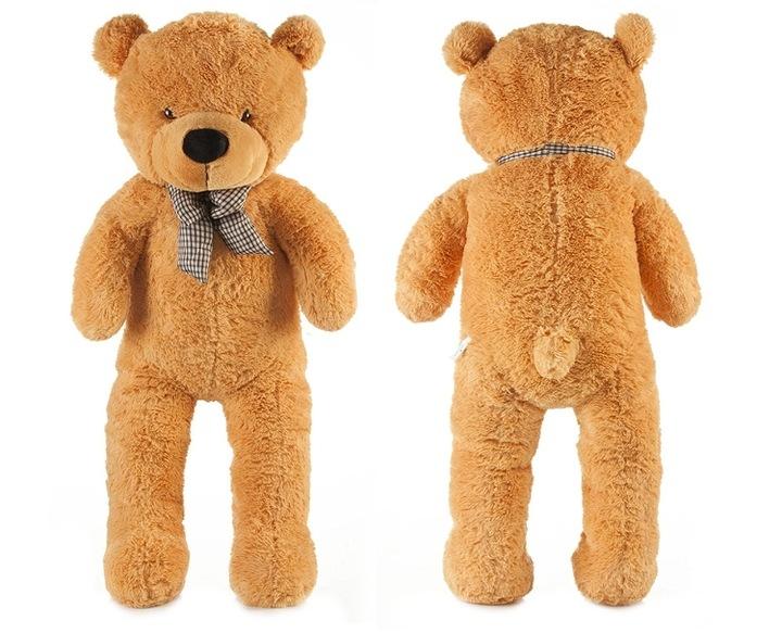 Roztomilý maxi plyšový medvěd Tedík 130cm - hnědý