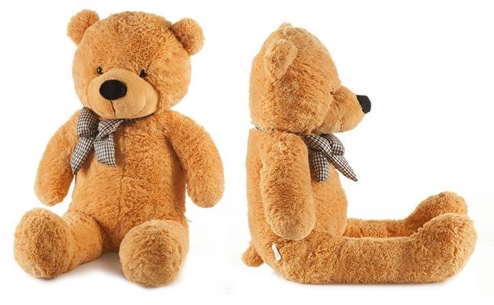 Roztomilý maxi plyšový medvěd Tedík 160cm - hnědý