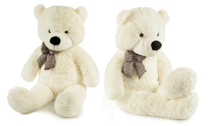 Roztomilý maxi plyšový medvěd Tedík 160cm - smetanový