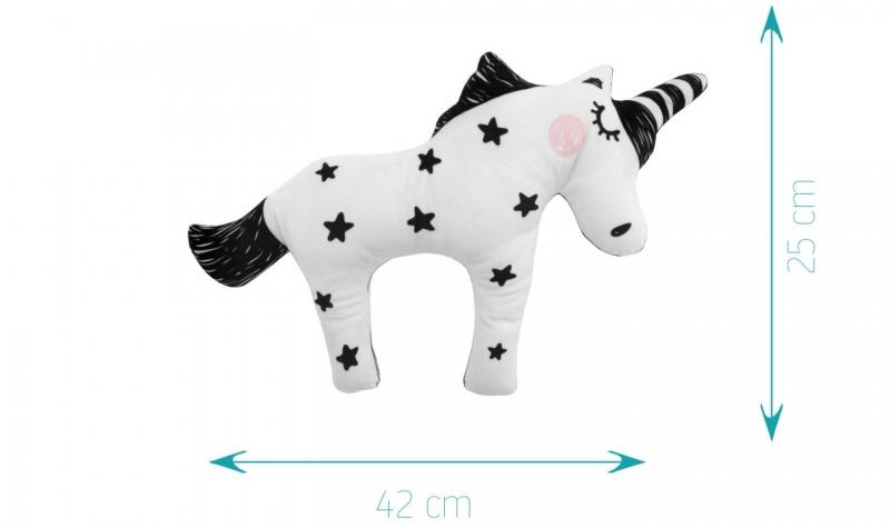 TTM Child Plyšový jednorožec Unicorn 40cm - black stars