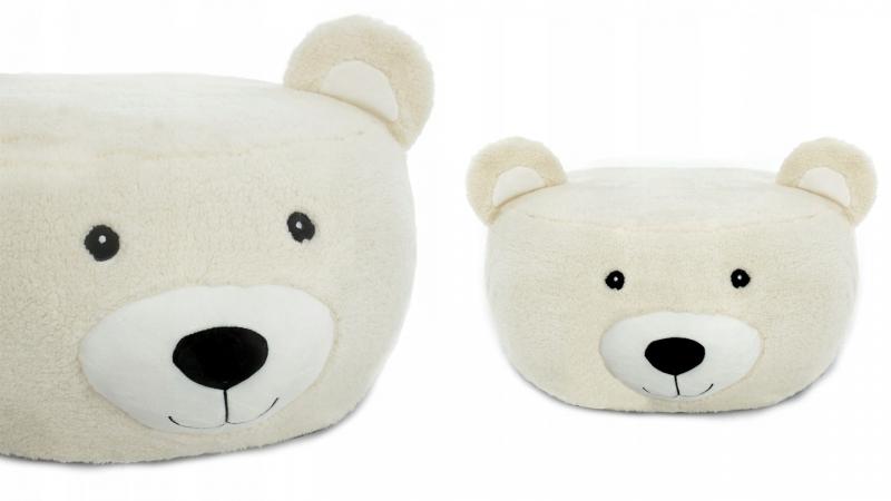 Plyšový bobek, křesílko Animal, 60x30cm - Medvěd