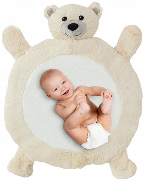 Plyšová hrací deka, podložka 67x78x5cm - Medvídek