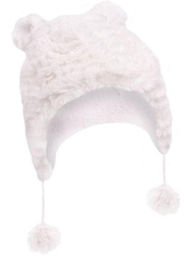 Zimní čepička YO ! na zavazování Ombre - krémová