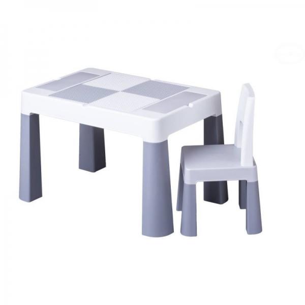 Sada nábytku pro děti Multifun - stoleček a židlička - šedá