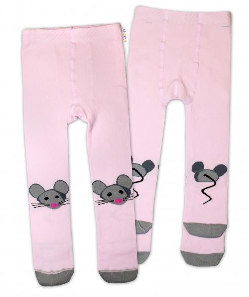 Bavlněné punčocháče - Myška růžová
