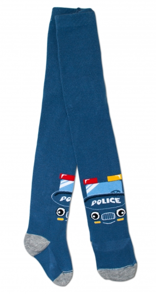 Bavlněné punčocháče - Policie tm. modré