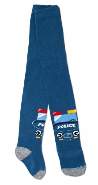 Baby Nellys Bavlněné punčocháče - Policie tm. modré, veľ. 92/98vel. 92/98