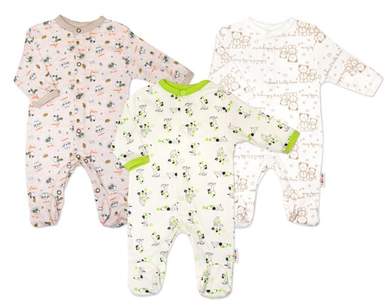 Výhodné balení 3ks - kojenecký overál - kluk, Velikost: 56 (1-2m)