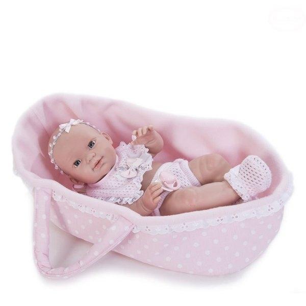 Realistická panenka Baby s přenosnou taškou