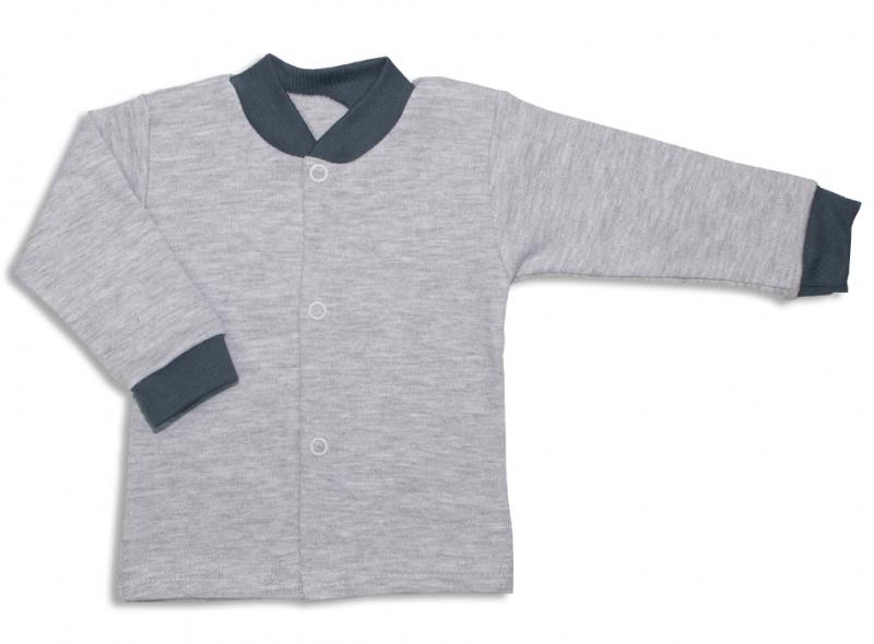 Bavlněná kojenecká košilka, Malé Štěstí - šedé, vel. 74