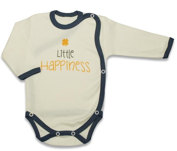 Body dlouhý rukáv, zapínání bokem Malé Štěstí - žluté