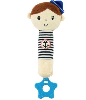 BABY MIX Edukační hračka pískací s kousátkem Námořník - Chlapeček
