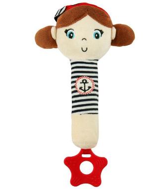 Edukační hračka pískací s kousátkem Námořník - Holčička