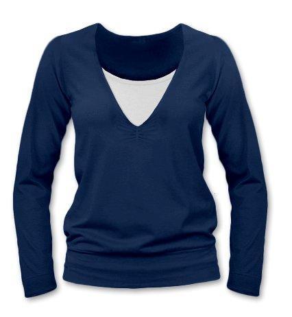 JOŽÁNEK Kojící, těhotenské triko Julie  dl. rukáv - jeans, L/XL