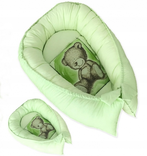 Oboustranné hnízdečko, kokon Teddy 80x45x15cm - zelené