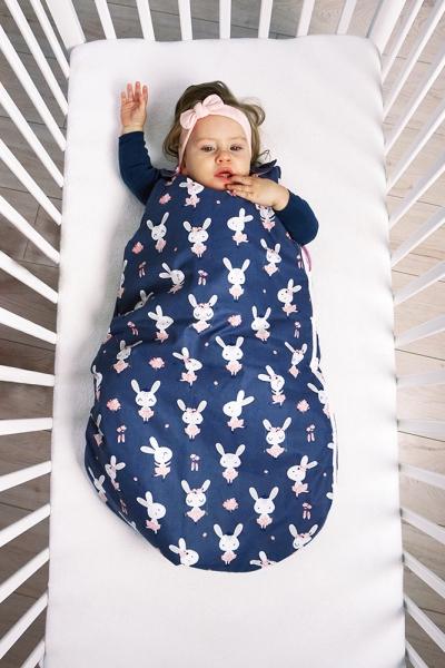 Baby Nellys Bavlněný spací vak Lesní zvířátka, 48x80cm