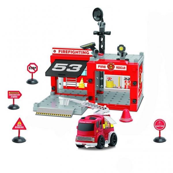 Sada hasičská stanice šroubovací s autem