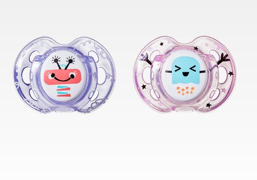 Dudlík Fun Style Příšerky 0-6 m - fialová/růžová