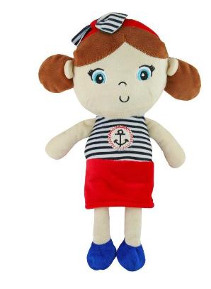 Edukační plyšová panenka Námořník - Holčička