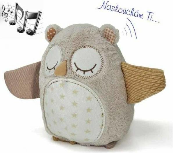 Cloud B Spící sovička s melodii a snímačem spánku