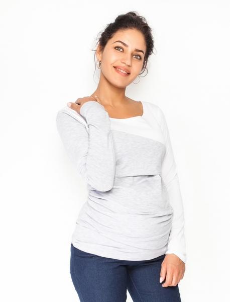 Těhotenské, kojící triko/halenka dlouhý rukáv