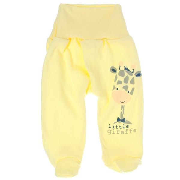 Bavlněné polodupačky Žirafka, vel. 68 - žluté