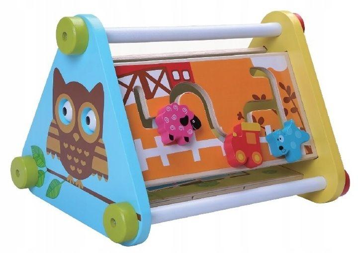 Eco toys Dřevěná edukační hračka - Sovička