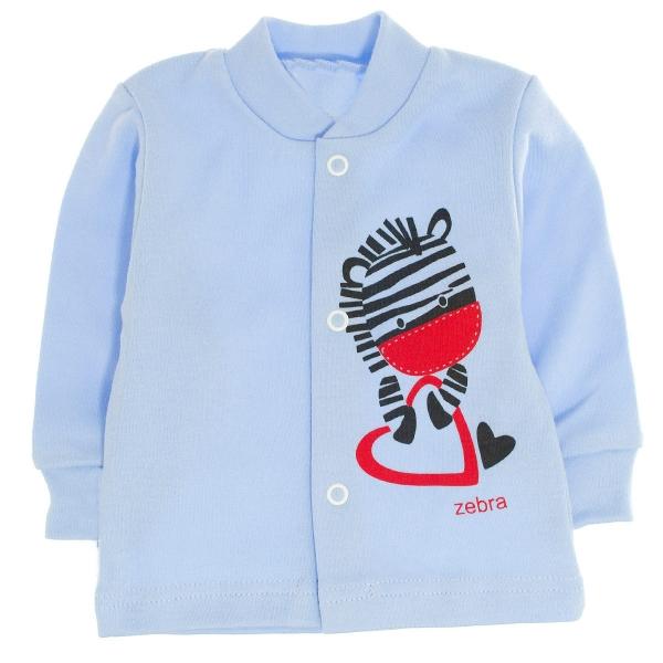 Bavlněná košilka Zebra, vel. 68 - modrá