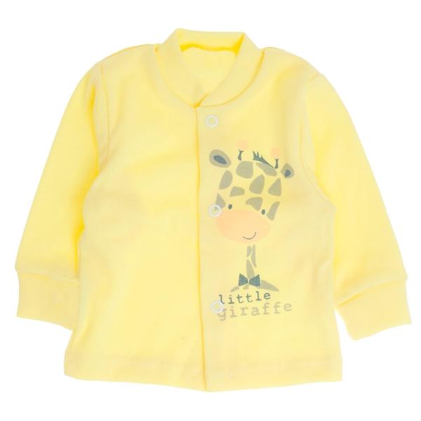 Bavlněná košilka Žirafka, vel. 62 - žlutá