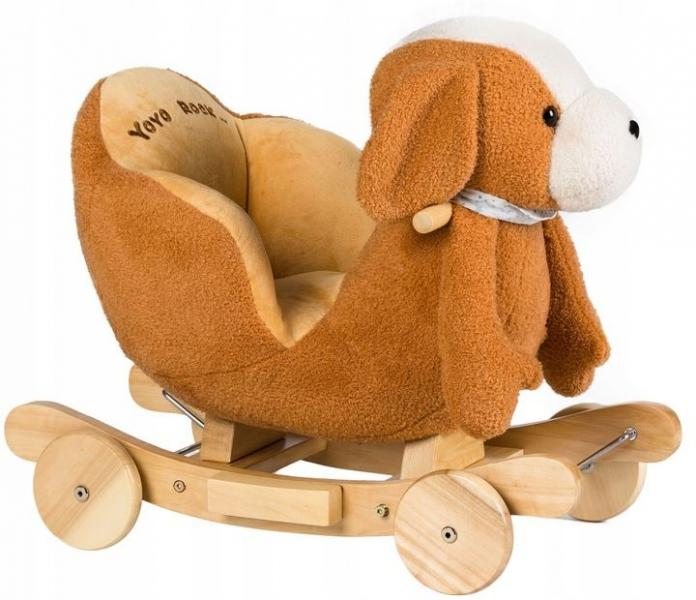 Eco toys Houpací, jezdící Pejsek  2v1 -hnědo/bílý