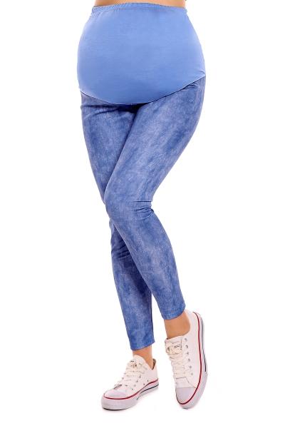 Be MaaMaa Těhotenské legíny - modré/žíhané, B19