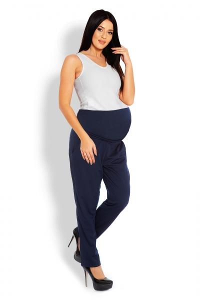 Be MaaMaa Těhotenské kalhoty/tepláky s vysokým pásem - granátové