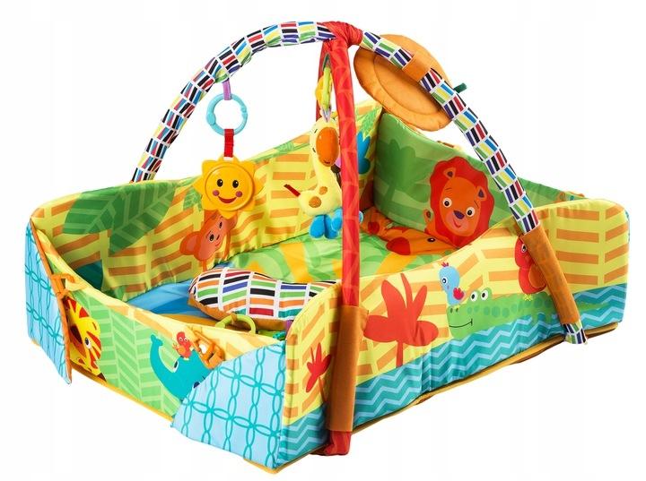 Eco toys Vzdělávací hrací deka 3v1 - Happy Safari